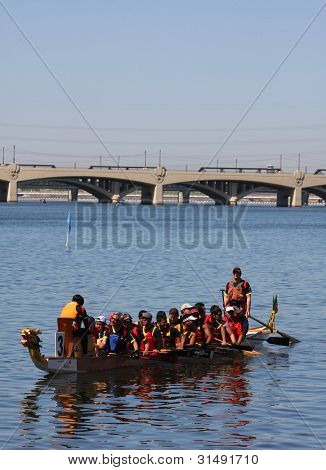 Single Boat Resting During Dragon Boat Festival