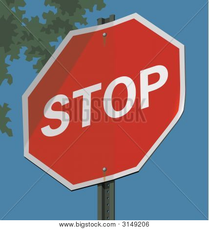 Road Sign; Stop