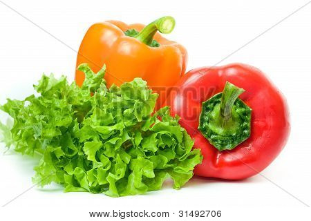 two pepper and salad