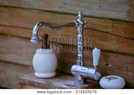 Vintage Faucet Sink,classic Brass Faucet,beautiful Bronze Faucet, Vintage Concept