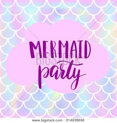 Mermaid Party Vector Photo Free Trial Bigstock