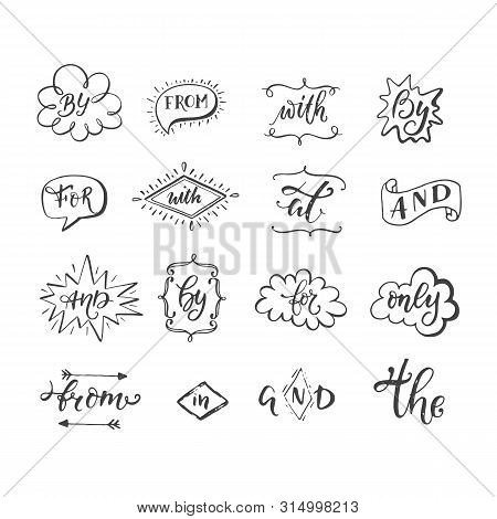 Hand Sketched Ampersands And Catchwords Vector Collection