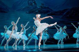 Odessa, Ukraine -july22, 2019: Ballet. Classical Ballet On Stage Of Odessa Opera Theater. Ballet Dan
