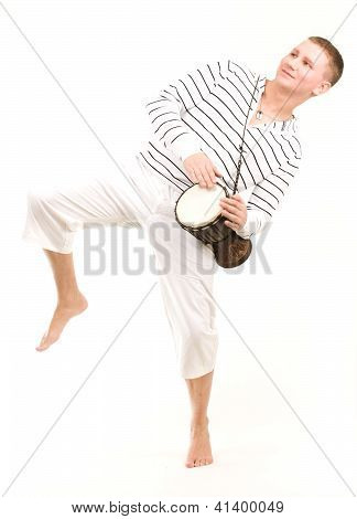 Dancing Boy With Tambourine