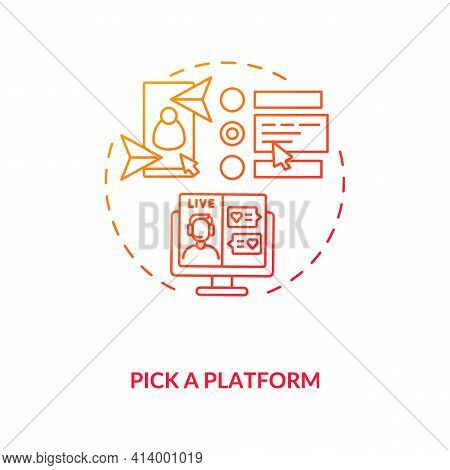 Pick Platform For Finding Couple Concept Icon. Dating Apps Variety Ideas Thin Line Illustration. Dif
