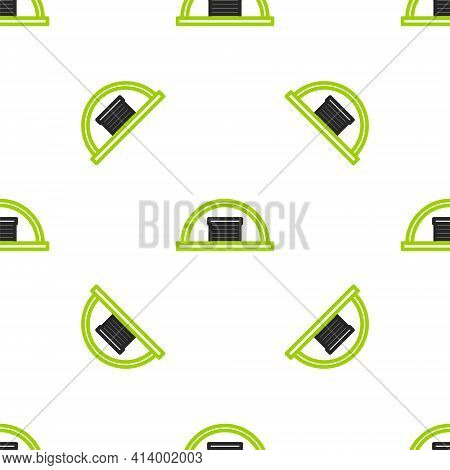 Line Hangar Icon Isolated Seamless Pattern On White Background. Vector Illustration