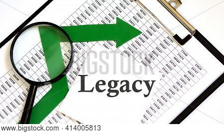 White Sticskers With Text Legacy On Chart, Business