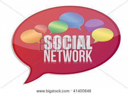 Social Media Network Message Icon