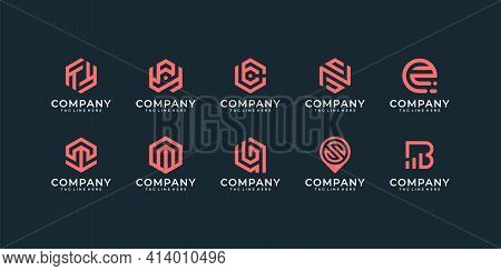 Set Of Modern Inspirational Business Logo Design Vector Collection. Logo Can Be Used For Icon, Brand