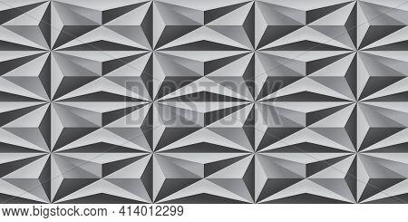 Repeating Futuristic Pattern | Seamless 3d Geometric | Sleek Shadowblock Design | Vector Shadow Bloc