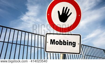 Street Sign The Direction Way To Motivation Versus Mobbing