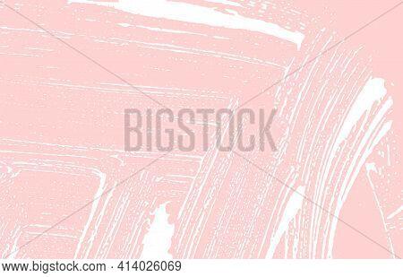 Grunge Texture. Distress Pink Rough Trace. Glamoro
