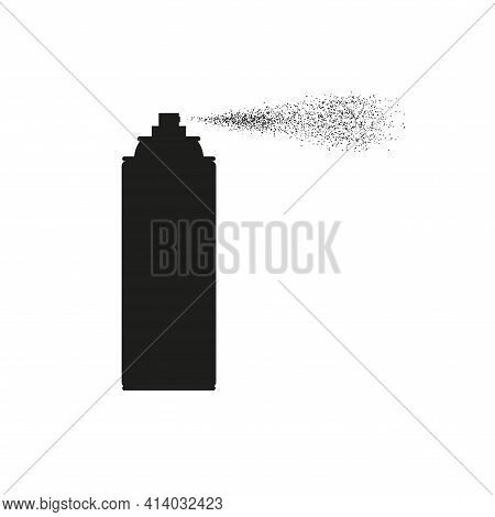 Aerosol Spray Can Silhouette. Vector Illustration Isolated On White
