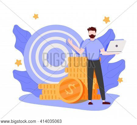 Employee Performance And Self-organization Abstract Concept Vector Illustration Set. Self And Time M