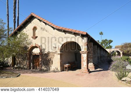 San Juan Capistrano, Ca - December 1, 2017: Soldiers Barracks at the San Juan Capistrano Mission, the 7th of 21 statewide missions.