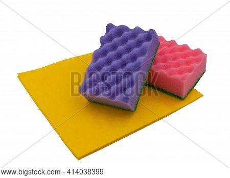 Kitchen Sponges. Dishwashing Sponges. Cleaner. Fiber Sponges.