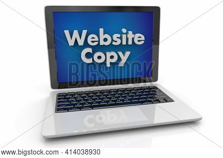 Website Copy Online Internet Writing Message Digital Content Computer Laptop 3d Illustration