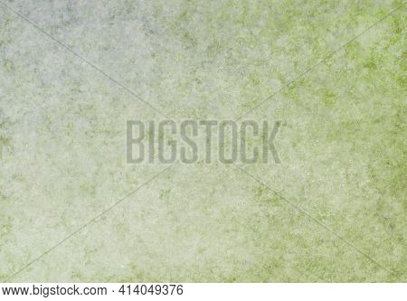 Olive Gray White Green Antique Old Background With Blur, Gradient And Watercolor Texture. Space For