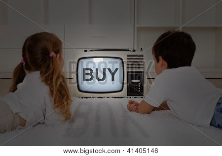 Kids Watching Television - Mental Imprinting