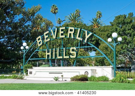 Beverly Hills Sign In Los Angeles Park