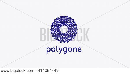 Modern Polygonal Geometric Logo Design. Abstract Polygons Ornament Logotype.