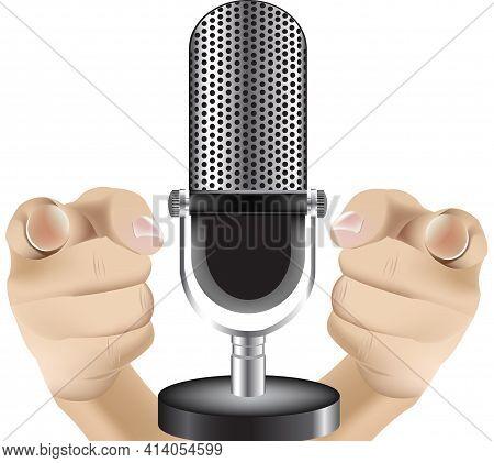 Hands Indicate Microphone Hands Indicate Microphone Hands Indicate Microphone Hands Indicate Microph