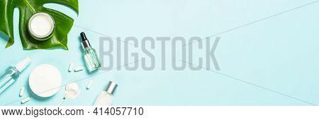 Collagen Powder, Pills, Cream With Collagen And Tonic.