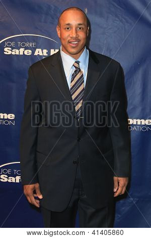 NEW YORK-AUG 14: Former NBA player John Starks attends the 10th Anniversary Joe Torre Safe At Home® Foundation Gala at Pier 60, Chelsea Piers on January 24, 2013 in New York City.