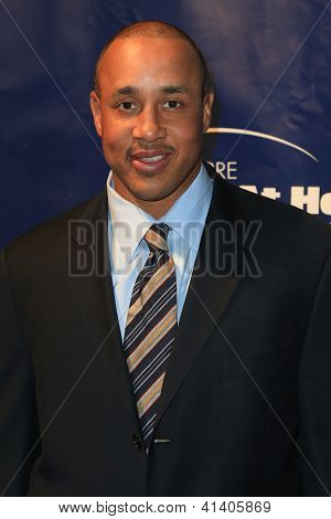 NEW YORK-JAN 24: Former NBA player John Starks attends the 10th Anniversary Joe Torre Safe At Home Foundation Gala at Pier 60, Chelsea Piers on January 24, 2013 in New York City.