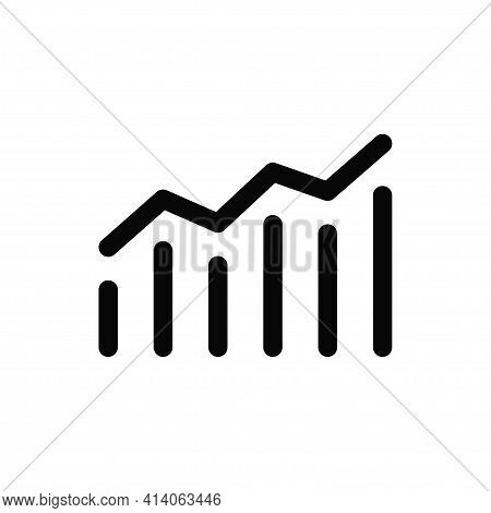 Growing Graph Icon Isolated On White Background. Growing Graph Icon In Trendy Design Style. Growing