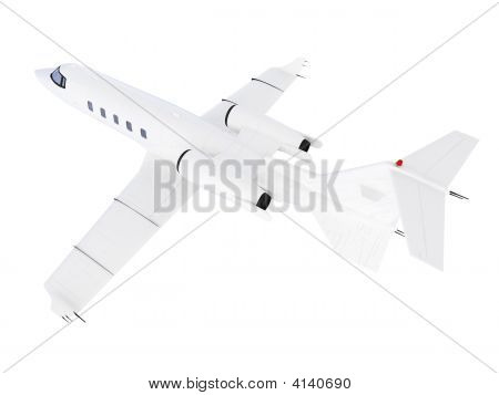 isolated jet airplane on a white background poster