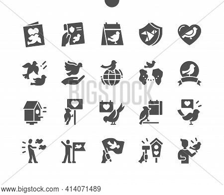 International Bird Day. Flying Birds. Calendar. Celebrate, Party And Holiday. Nature, Animal, Sky, W