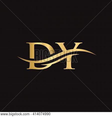 Dy Logo Design Vector. Swoosh Letter Dy Logo Design