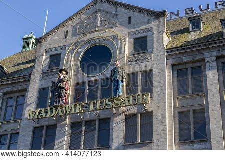 Amsterdam, Netherlands - July 02, 2018: Madame Tussauds Museum At Dam Square In Amsterdam