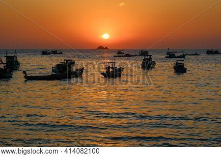 The Wonderful Sunset On Phu Quoc Island