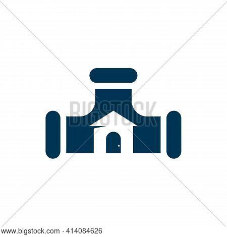House Plumbing Logo Design Vector Illustration, Creative Plumbing Logo Design Concept Template, Symb