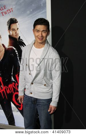 LOS ANGELES - JAN 23: Rick Yune at the LA premiere of Paramount Pictures' 'Hansel And Gretel: Witch Hunters' at Grauman's Chinese Theater on January 24, 2013 in Los Angeles, California