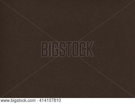 Horizontal Front View High Resolution Closeup Detail Of Empty Dark Brown Paper Background Texture