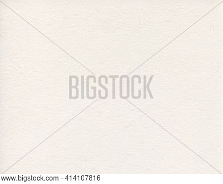Horizontal Front View Of Empty Flat White Paper Texture With Embossed Ornament