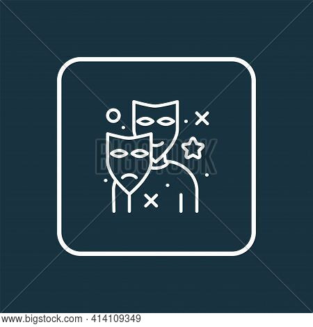Actor Icon Line Symbol. Premium Quality Isolated Theater Element In Trendy Style.