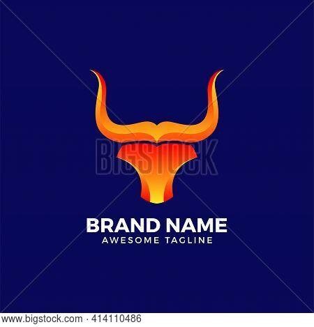 Abstract Bull Head. Abstract Bull Logo. Bull Vector. Bull Illustration. Bull Head Icon. Bull Mascot.