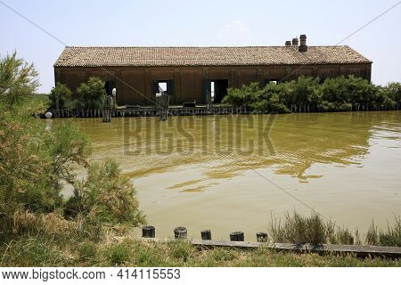 Po River (fe),  Italy - April 30, 2017: The Typical
