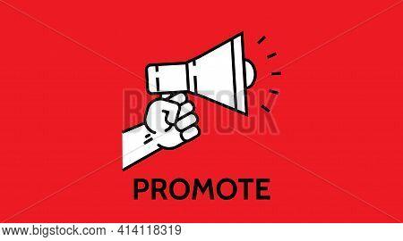Promotion Icon. Simple Element Illustration. Promotion Concept Symbol Design. Online Web And Mobile.