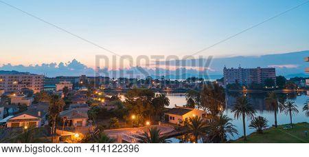 Alcudia resort evening view Mallorca, Spain