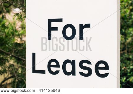 For Lease Sign Outside Of A Residential Building In Australia. Renting