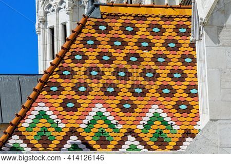Details Of The Matthias Church (mátyás Templom) That Is A Roman Catholic Church Located In Budapest,