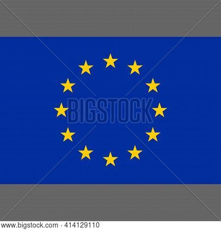 Europe Flag. Flag Council Of Europe. Digital Reproduction. Vector.