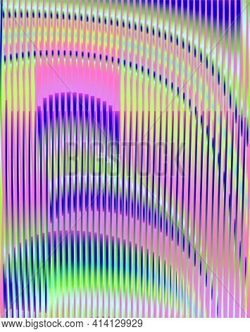 Bright Iridescent Vector Abstract Background With Vertical Lines And Holographic Effect. Multicolore