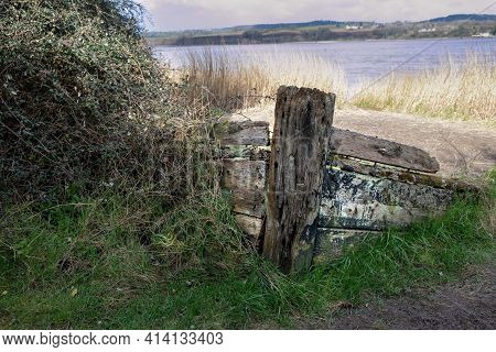 Purton Ships Graveyard, Unwanted Vessels Beached On The Banks Of The River Seven To Prevent Erosion,
