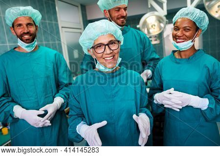 Hospital Medical Surgery Team Is Ready For The Operation